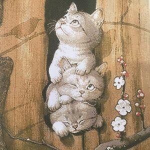 Kittens Cats Large Counted Cross Stitch Pattern